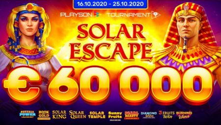 Playson turns up the heat with new €60,000 Solar Escape network slot tournament