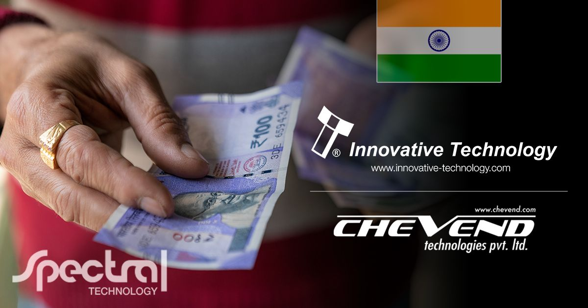 Rising cash payments in India secured by Spectral Technology