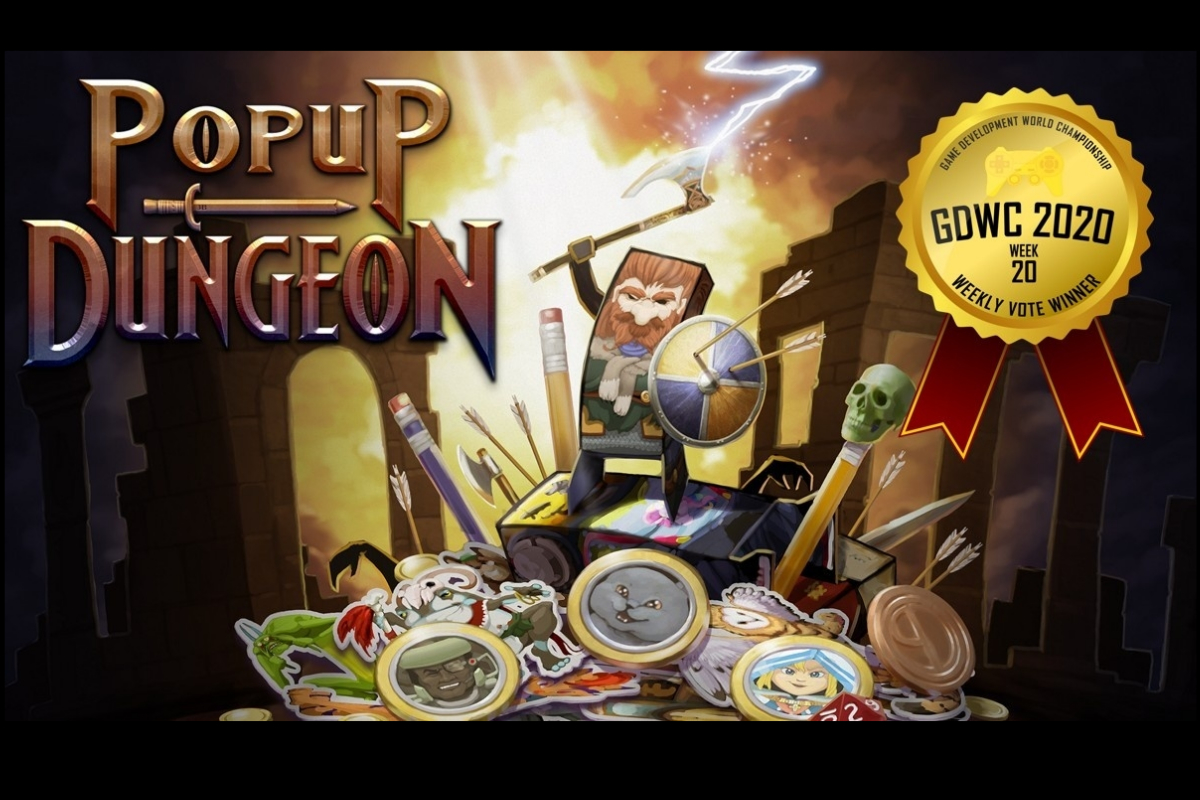 Popup Dungeon Pops to the Top at the Game Development World Championship Medieval Weekly Vote!
