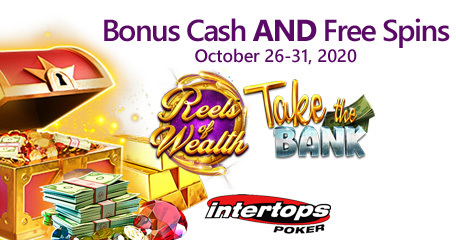 New deposit bonus and spins deal at Intertops Poker this week