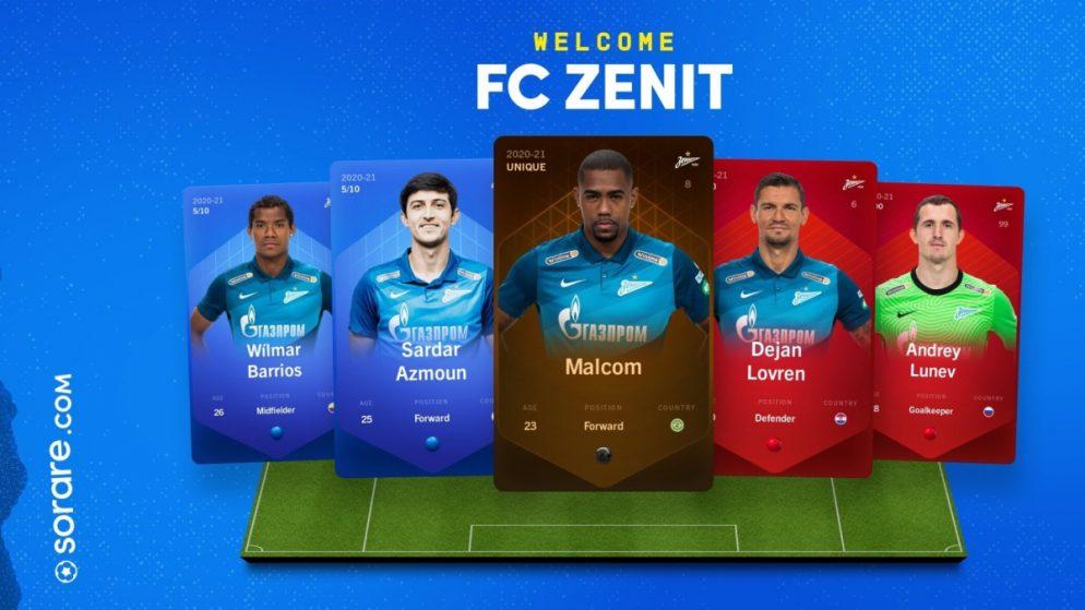 Zenit St. Petersburg join Sorare's fantasy football game