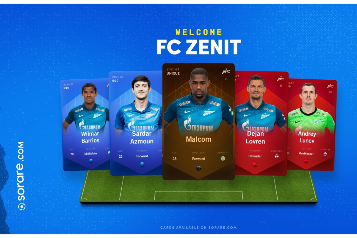 Zenit St. Petersburg join Sorare's fantasy football game