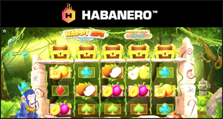 Go 'bananas' with new Happy Ape video slot from Habanero Systems BV