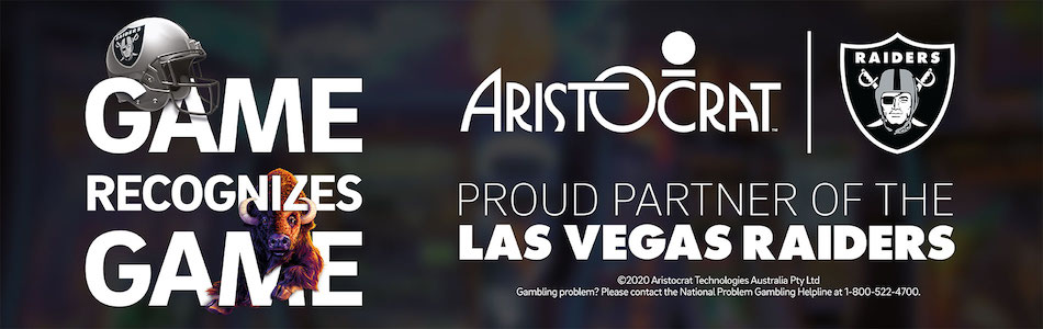 Aristocrat official partner of Las Vegas Raiders Stadium
