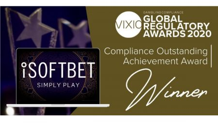 iSoftBet wins Compliance Outstanding Achievement Award at Vixio Global Regulatory Awards 2020