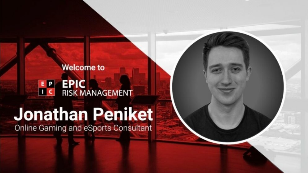 EPIC Risk Management Appoints Jonathan Peniket as Gaming and eSports Consultant