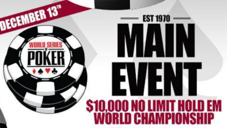 WSOP Main Event to take place this December