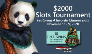 New slot tournament starts today at Intertops Poker featuring popular Betsoft slot games