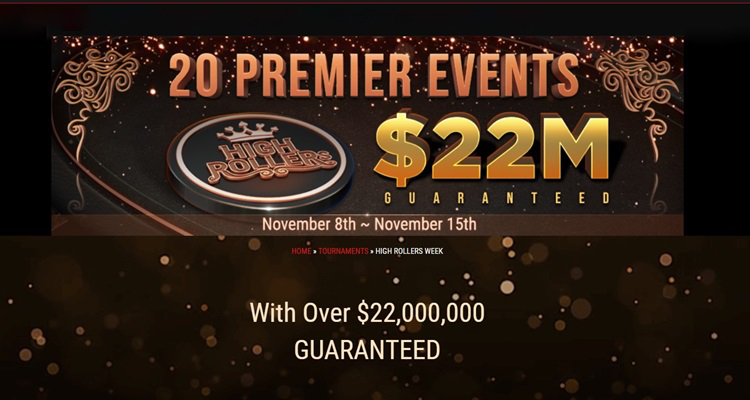 GGPoker announces High Rollers Week begins November 8 with over $22m in prizes up for grabs