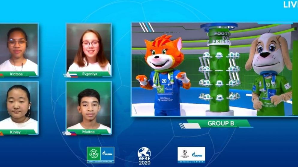 Children from over 100 countries to take part in Football for Friendship eWorld Championship: final results of draw announced