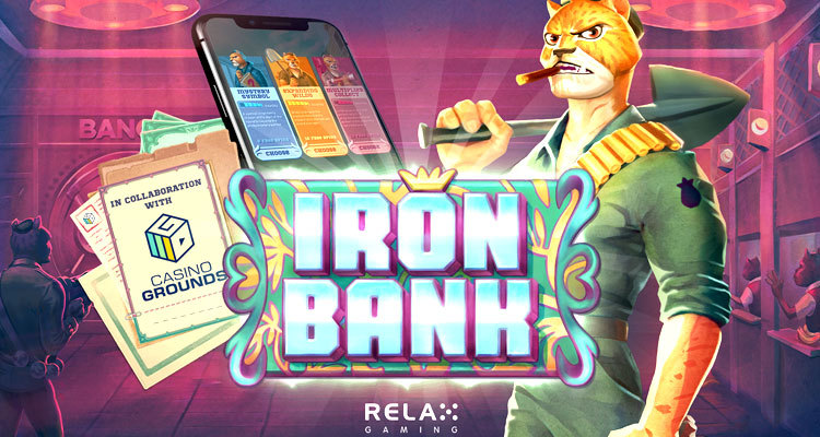 "Relax Gaming and CasinoGrounds collaboration produces ""first community-led slot creation"": Iron Bank"
