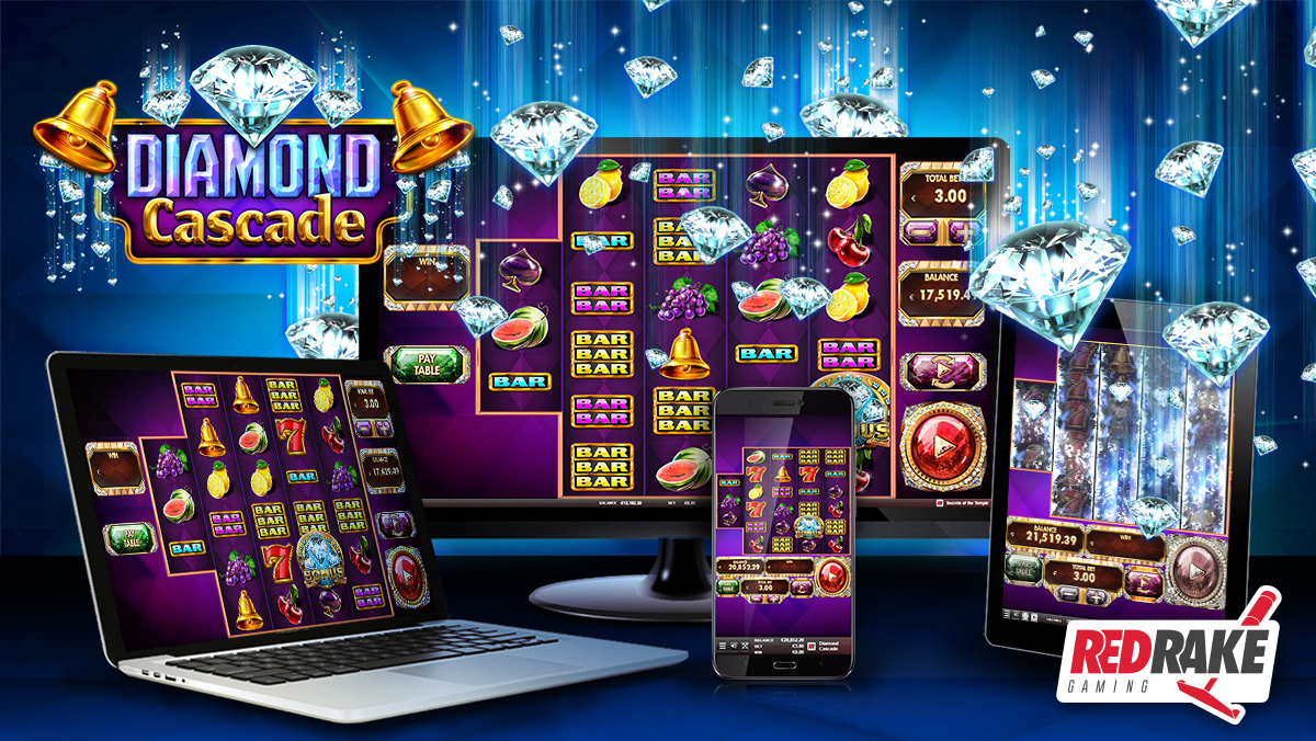 Refresh yourself under a cascade of diamonds in the latest video slot from Red Rake Gaming: Diamond Cascade