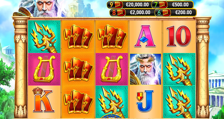 RubyPlay announces brand new slot game Zeus Rush Fever