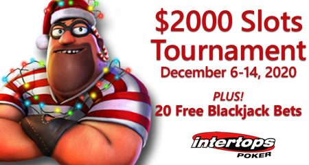Intertops Poker announces new holiday-themed slot tournament plus extra blackjack bets