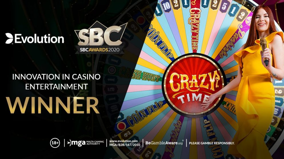 "Evolution Wins ""Innovation in Casino Entertainment"" Award at SBC Awards 2020"