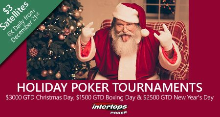 Satellites begin this Monday at Intertops Poker for Christmas Day and New Years online poker events