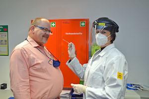 Virus testing programme at Gauselmann factory