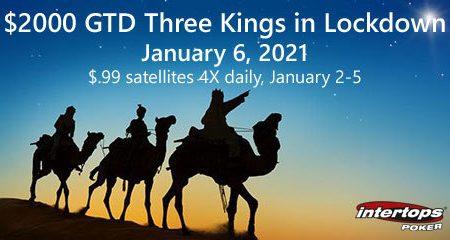 Intertops Poker adds Three Kings on Lockdown Online Poker Tournament to schedule; satellites start today