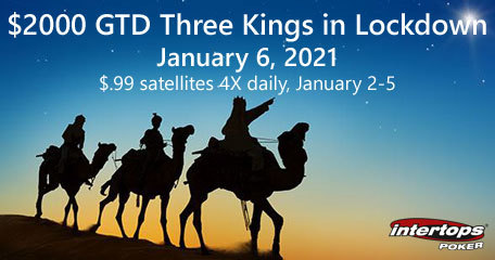 Intertops Poker adds Three Kings on Lockdown Online Poker Tournament to schedule; satellites start today