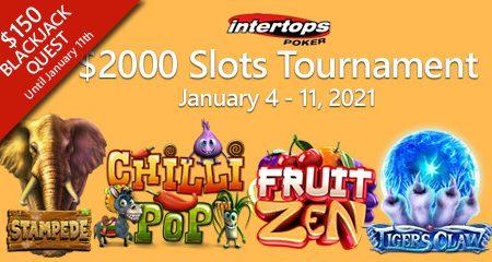 Intertops Poker launches slot tournament and Blackjack Quest