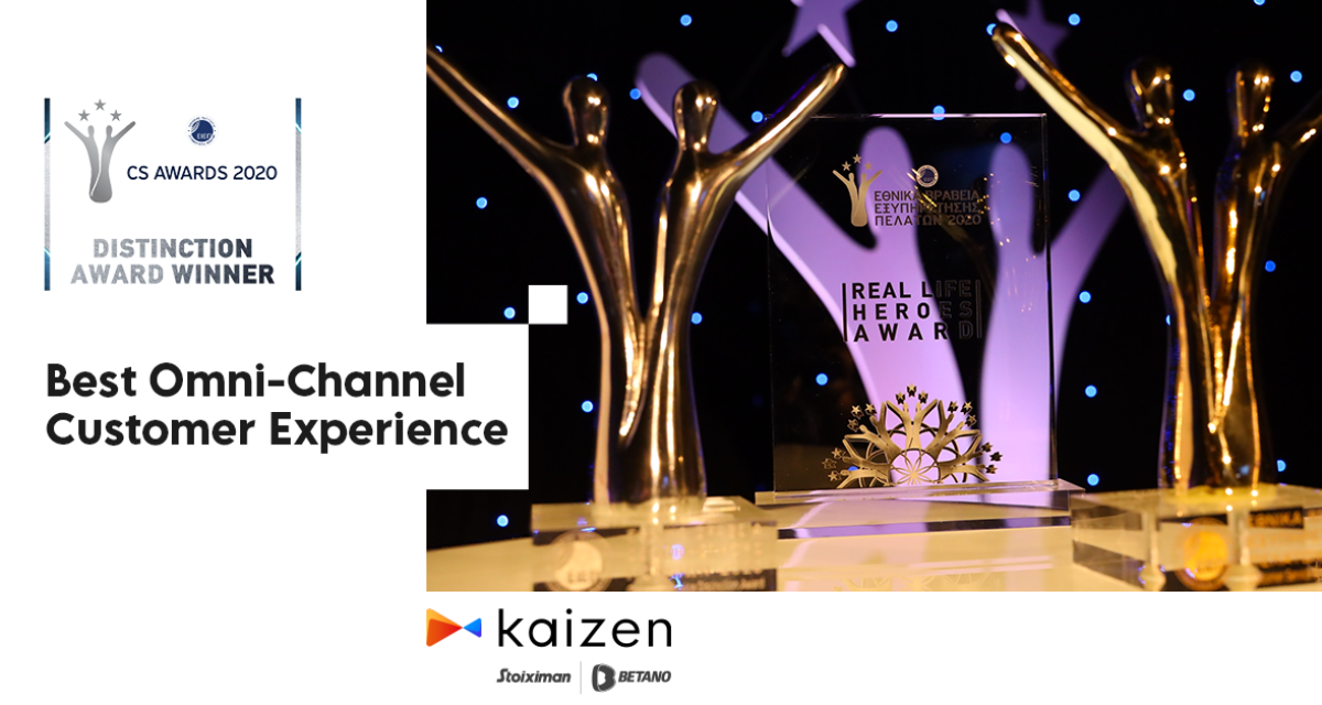 "Kaizen Gaming Wins Award in ""Best Omni-Channel Customer Experience"" Category at National Customer Service Awards 2020"