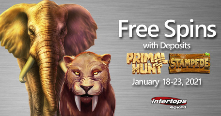 Intertops Poker heeds the call of the wild in latest online slots extra spins promotion