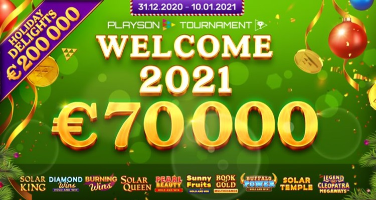 Playson rings in the New Year with final installment of Holiday Delight slots tournament series: Welcome 2021!