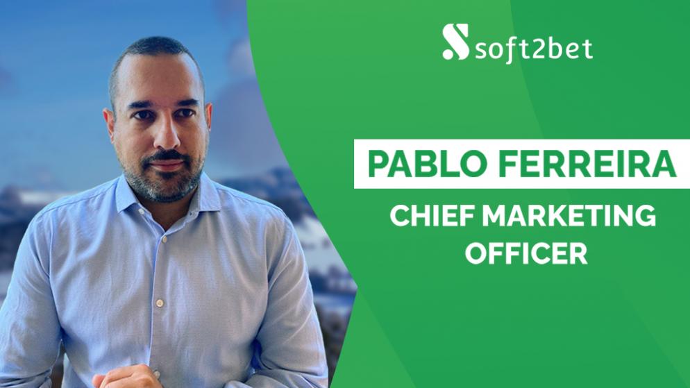 Soft2Bet names Pablo Ferreira as Chief Marketing Officer