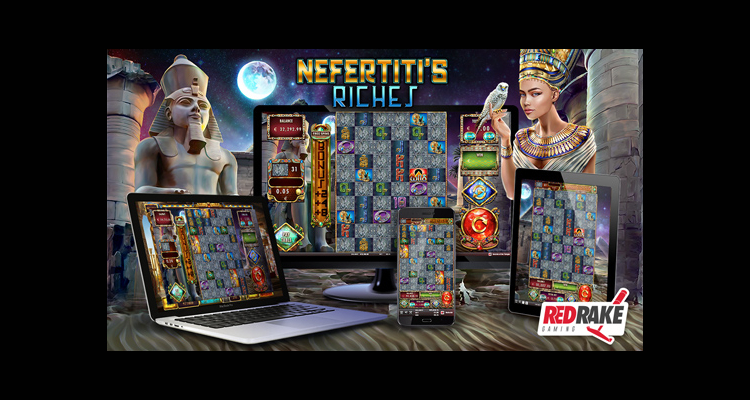 Go back in time with the new Nefertiti's Riches video slot from Red Rake Gaming