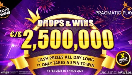 Pragmatic Play launches massive Drops & Wins promotional series featuring €/£2.5M prize pool