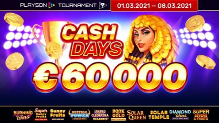 Playson unveils March CashDays slots network tournament; celebrates 5-year partnership with Microgaming