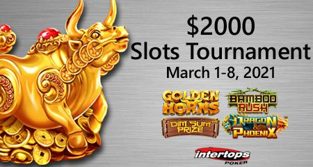 Intertops Poker kicks off March with a $2K slots tournament featuring Betsoft's Red Dragon Asian-themed games
