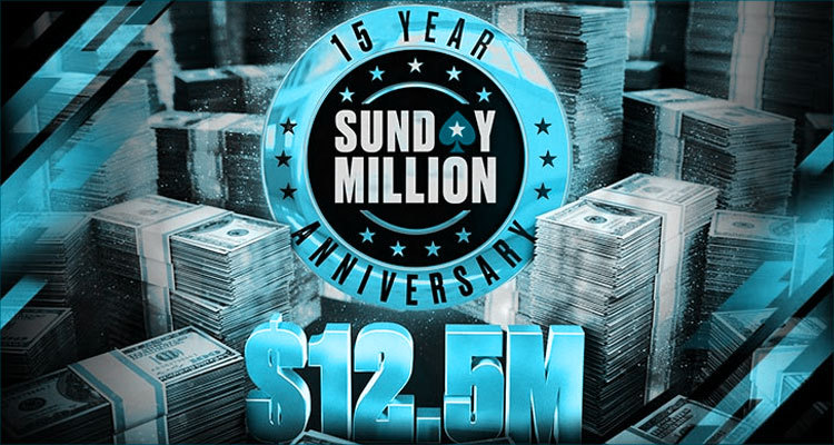 PokerStars to celebrate 15th anniversary of Sunday Million March 21