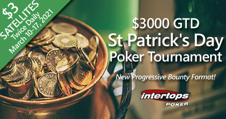 Intertops Poker to host special online poker tournament on St. Patrick's Day