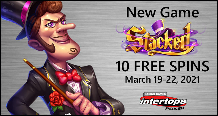 Enjoy complimentary Stacked spins this weekend at Intertops Poker