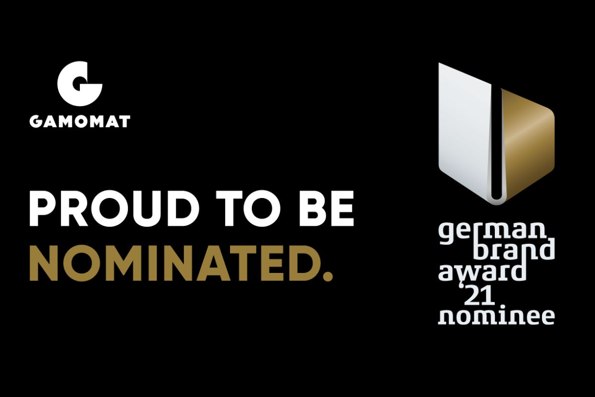 GAMOMAT nominated for prestigious German Brand Award 2021