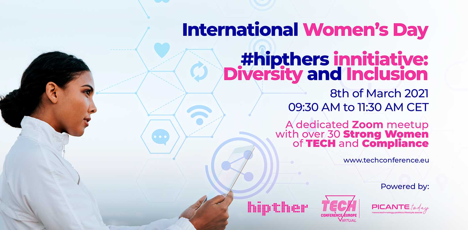 You are invited to the International Women's Day initiative by the #hipthers (online meetup on Diversity and Inclusion)
