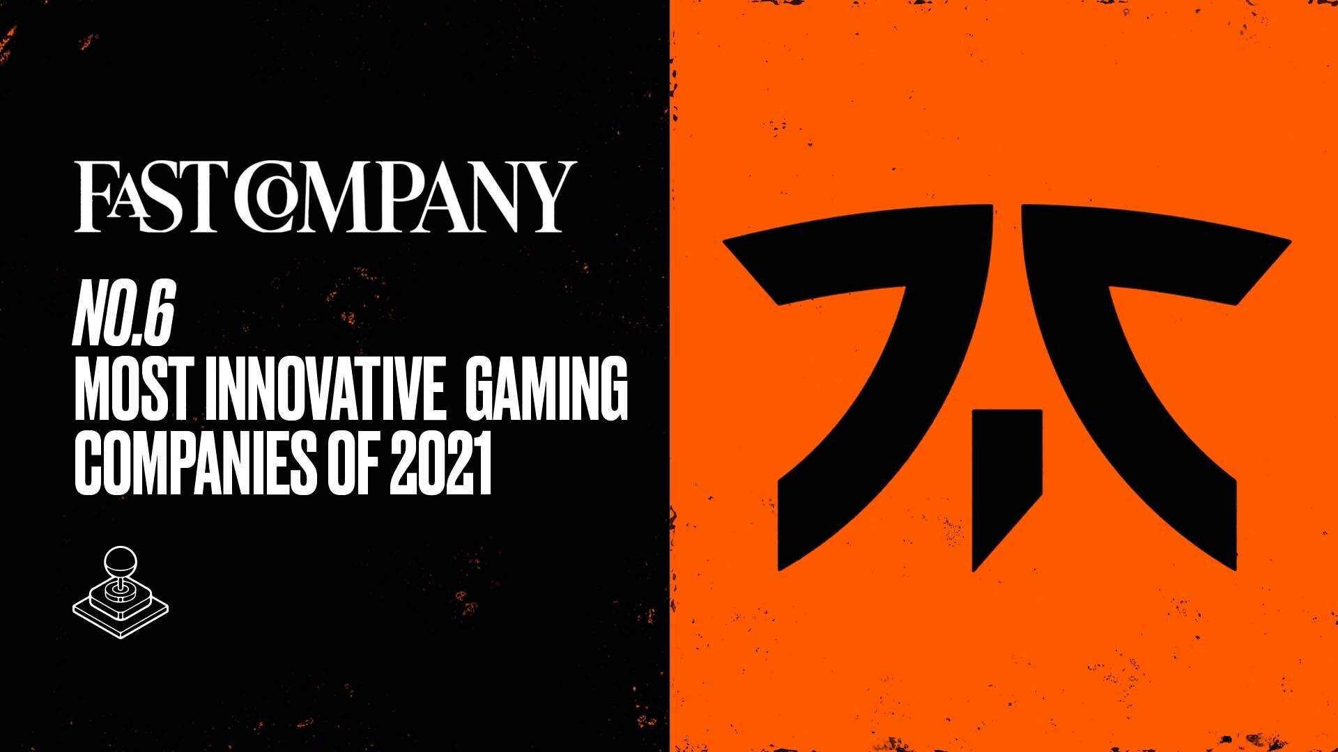 Fast Company ranks Fnatic in the most innovative gaming firms