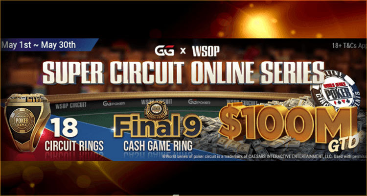 GGPoker announces new WSOP Super Circuit Online Series for May with $100m in guaranteed prize money