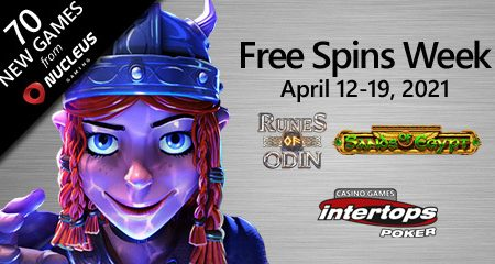 Intertops Poker announces new extra spins week featuring Nucleus Gaming online titles