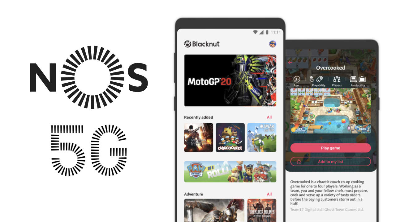 Blacknut and NOS team up to offer the first 5G cloud gaming experience in Portugal