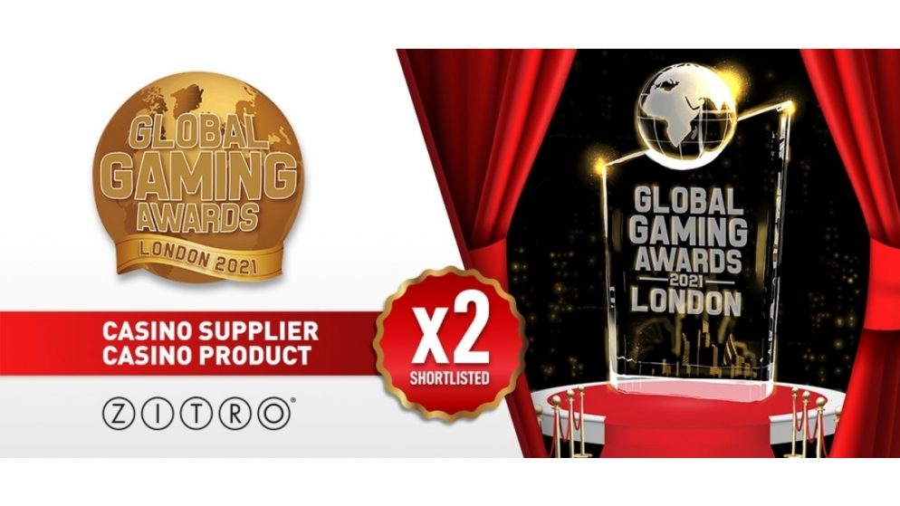 Zitro Shortlisted for the Global Gaming Awards London 2021