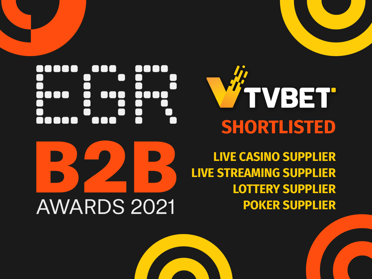TVBET shortlisted for EGR B2B Awards 2021 in 4 categories