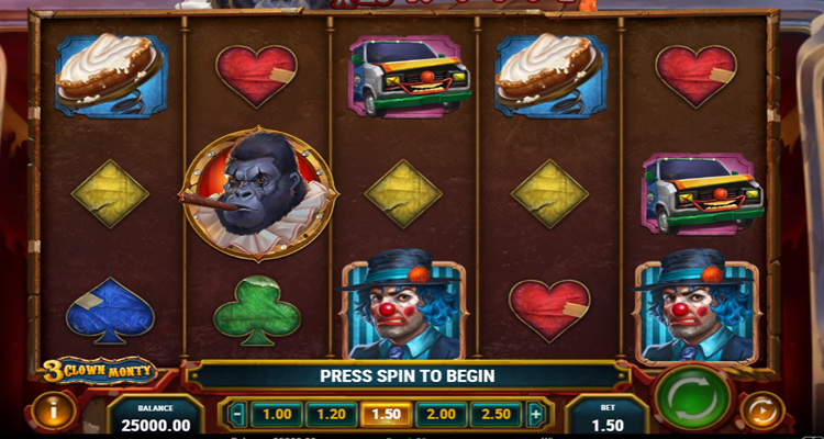Play'n GO brings the circus to the online slot reels in 3-Clown Monty