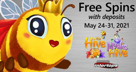 Intertops Poker announces new extra spins week featuring bee-themed online slot games