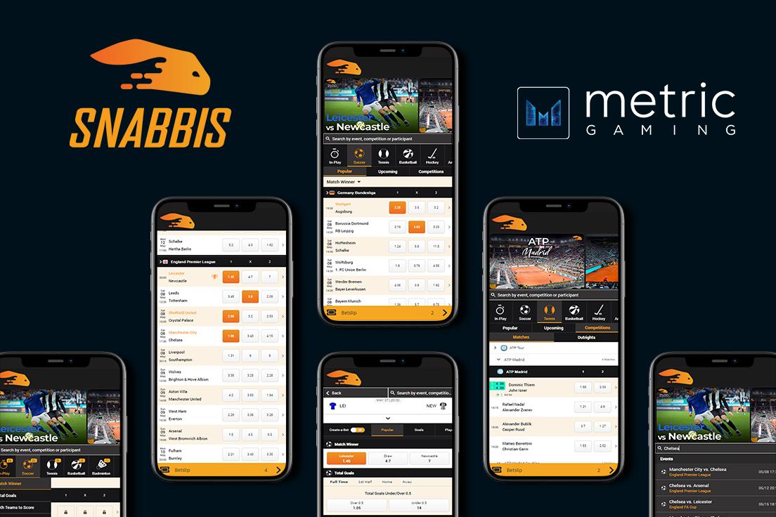 Snabbis.com Launches Full Sportsbook Through Metric Gaming