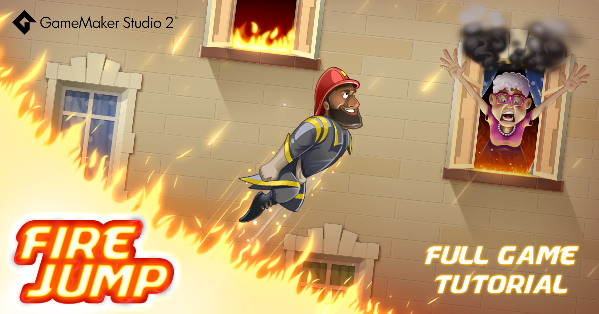 YoYo Games launches Fire Jump – a new game-making Drag and Drop tutorial for GameMaker Studio 2