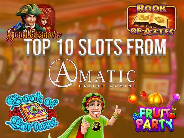 Top 10 Amatic Slot Games on Bob Casino