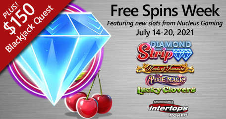 Intertops Poker announces new extra spins week