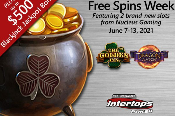 Intertops Poker announces new extra spins deal via Nucleus Gaming titles plus blackjack bets
